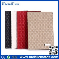 Fashionable Woven Texture Side Flip Stand Full Body Protective Leather Cover Case for iPad Air / Air 2 / iPad 2 / iPad 3 /iPad 4