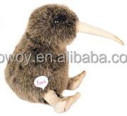 Logo imprinted promotional custom soft plush stuffed Nature Kiwi beanbag embroidery dress bandana t-shirt bib tie ribbon animal