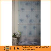 patrón de la flor de poliéster impresa tela de la cortina