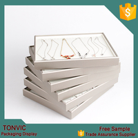 High Quality Jewelry Tray Display Box Leather