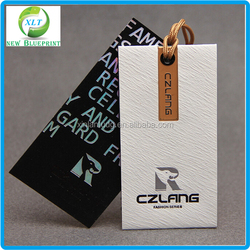 High quality custom made paper hang tags and labels with cheap price