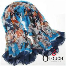 First-Class Fashion Printed Tribal printed scarf silk
