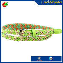 2015 spring and summer hand-woven belt women wholesale leather decorative belt