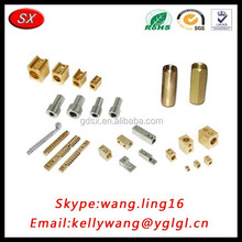 China factory hot-sale brass/aluminum home electrical parts, cnc machinery lathe spare parts