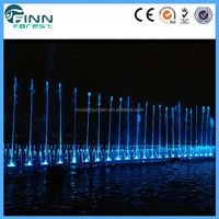 outdoor entertainment color changing water fountain
