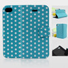 Wave Point Stand PU Leather Phone Cases for Iphone 4 ( Models and colors can be customed)