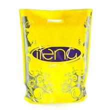 Yellow Color Euro Tote Die Cut Punch Plastic Bag