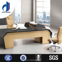 F-38 modern cherry color laminate office desk furniture