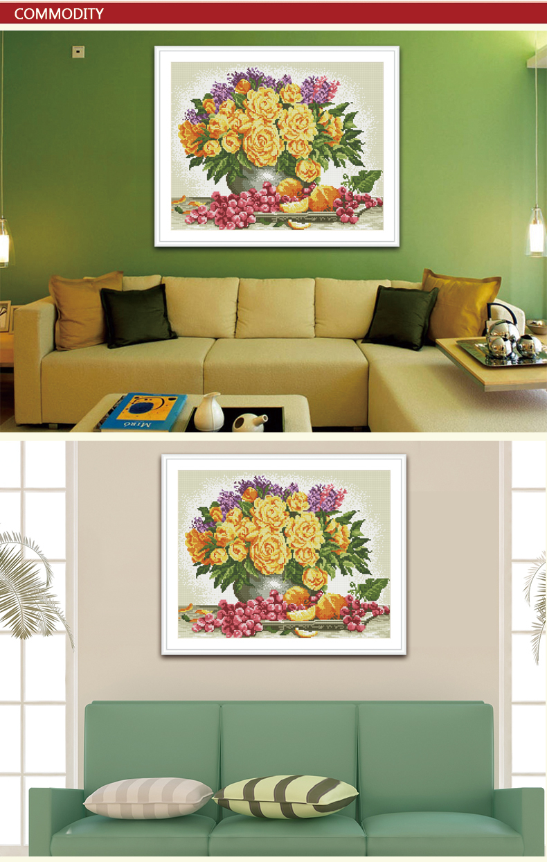 Diy diamond painting by numbers with flower picture yiwu Manufacturer GZ002