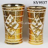 Lucky bamboo galvanized custom decoration flower pot