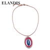 E-ELANDIS Fashion design hot sale gold plating metal short chain alloy necklace NL14241