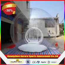 1.0mm PVC high quality igloo inflatable clear tent cheap on sale