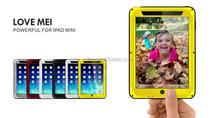 Hot Selling Waterproof Shockproof Metal+Aluminium+Gorilla Glass Hybrid Case for iPad Mini 2