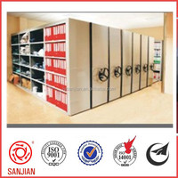 Durable quality steel library steel Compact Metal Mobile Shelving System Book Store Furniture