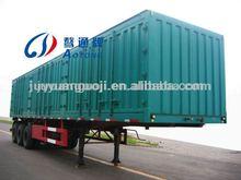 best selling cargo semi trailer house,3 axles truck cargo box,side open box utility trailer