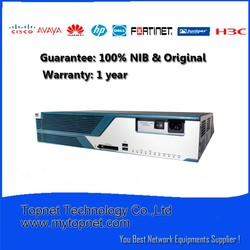 80% discount original and brand new CISCO 3825 - Router with 2 Gigabit Ethernet fixed LAN ports