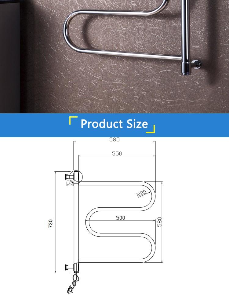 bagno scaldasalviette elettrico montato a parete riscaldatore scaldino 904