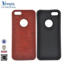 Veaqee Alibaba gold supplier Leather Skin Soft TPU Case For Iphone 5s