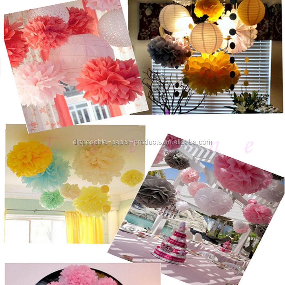 Girls Birthday Party Ideas Backdrop Hanging Tissue Paper Pom Pom