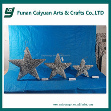 2014 new style hot sell new design artificial holiday popular wooden five star christmas tree decoration