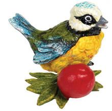 lovely colorful resin bird for house/garden decoration doll
