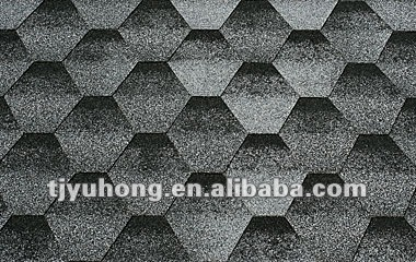 single layer asphalt roofing shingles