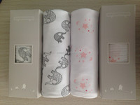 """HOT!!! Baby Muslin Wrap Swaddle Blanket Bamboo Organic Cotton Baby Blankets Super Soft 47x47"""" After Washed"""