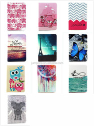 Cartoon flowers animal bear owl Eiffel wallet stand Leather case for Apple iPad mini 1 2 3