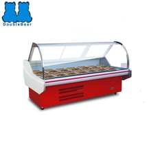 Meat display refrigerator/cooler for Supermarket/ meat store/ butchery