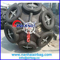 high pressure marine pneumatic rubber bladder with chain and tyre