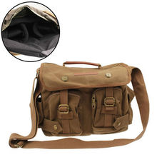 wholesale price good quality Portable Top Closing Soft Cloth Portable Digital Camera Canvas Bag with Strap, Size: 330x140x230mm