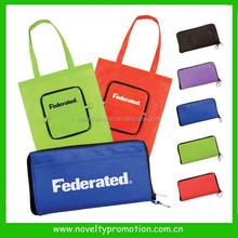 Non--Woven Easy Foldaway shopping tote bag