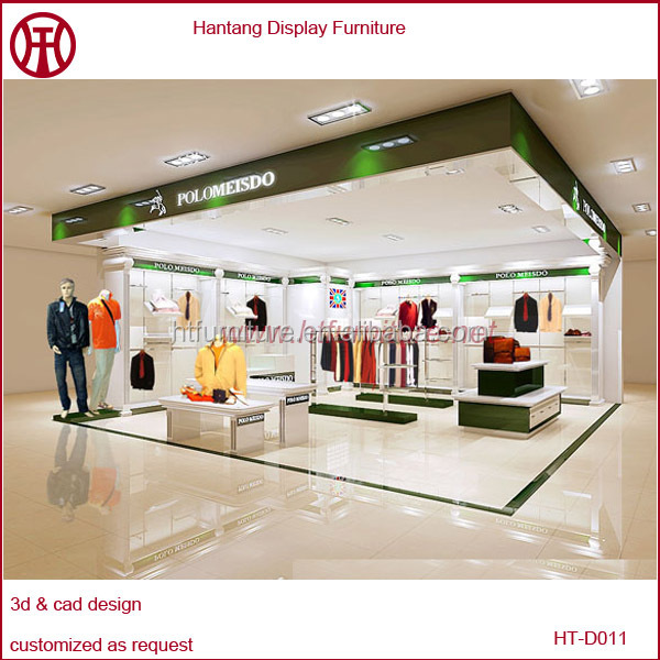 Professional garment shop interior design clothes shop for A t design decoration co ltd
