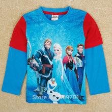 ( a5029) azul 2-6y congelados de <span class=keywords><strong>ropa</strong></span> <span class=keywords><strong>para</strong></span> <span class=keywords><strong>niños</strong></span> 3d de dibujos animados camisas de t los <span class=keywords><strong>niños</strong></span> camisa de manga larga
