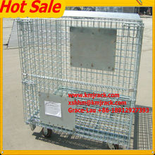 Heavy Duty Collapsible Steel Storage Metal Cage For Warehouse