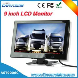 """9"""" LCD Monitor concrete mixer truck 3.5 inch rear view car tft lcd monitor"""
