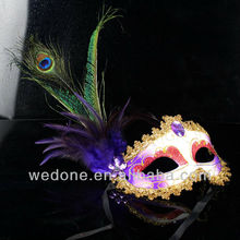 Feather Halloween Party Face Masks