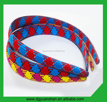 Wholesale polyester covered plastic headband,hair band