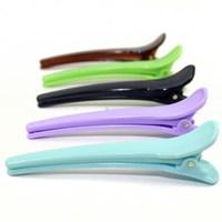 Free shipping cheap wholesale 10cm fashion plain black alligator hair clip plastic hair claw clip