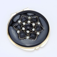 new trendy ladies mini round metal cosmetic mirror for gift