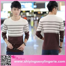 Korean cardigan latest design men's color combination sweater