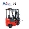 Red color 1.5tons four wheels drive battery forklift / electric forklift / battery powered source forklift