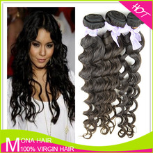 virgin Brazilian hair extension loose wave 100% brazilian hair remy loose curl weave