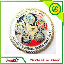 Freedom enamel military challenge coin