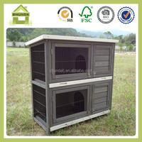 SDR20 2 layers slant roof design rabbit hutch wholesale