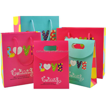 2015 cheap paper bag/ filter paper bag with bowknot/ customized swarovski filter paper bag with logo