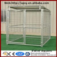 Eco friendly waterproof dog run kennels shepherd breeding large cages metal welded pets pens with gate