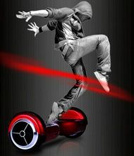 Safe and fast speed 2 wheel electric scooter standing self balancing mini LED light 2 wheel stand up electric scooter