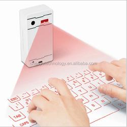 Trade Assurance universal virtural laser bluetooth keyboard for Tablet Cellphone