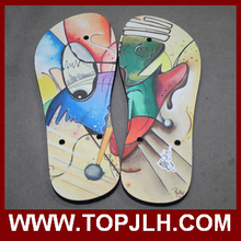 black/white/yellow/red/pink strap rubber flip flops